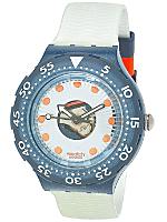 Vintage Swatch Scuba Silver Trace Watch