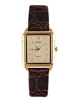 Vintage Citizen Gold Rectangular Leather Watch