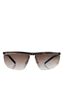 Vintage Jacques Fath Peach/Black Angular Sunglasses