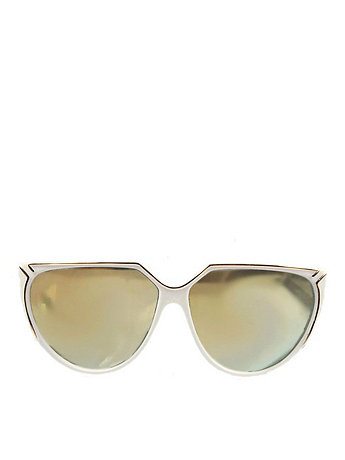 Vintage IOC Mirrored White/Gold Sunglasses