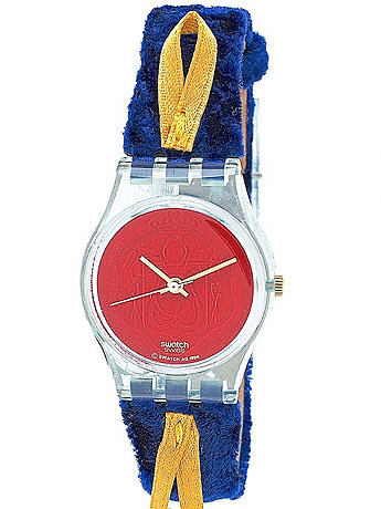 Vintage Swatch Cord On Bleu Ladies' Watch