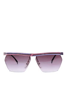 Vintage Jacques Fath Pink/Purple Angular Sunglasses