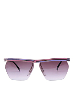 Vintage Jacques Fath Pink/Purple Angular Frame Sunglasses