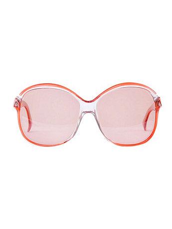 Vintage Lanvin Round Frame Rose Sunglasses