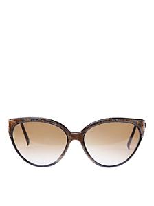 Vintage Nina Ricci Brown Marbled Sunglasses