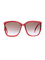 Vintage Leonard Oversized Red Sunglasses