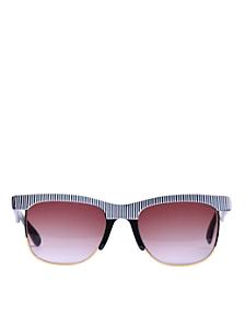 Vintage Jean Pierre Lamy Ridged Wire Sunglasses