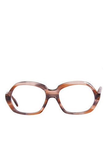 Vintage Marbled Brown Plastic Eyeglasses