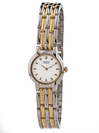 Seiko Gold Teardrop Ladies' Metal Band Watch
