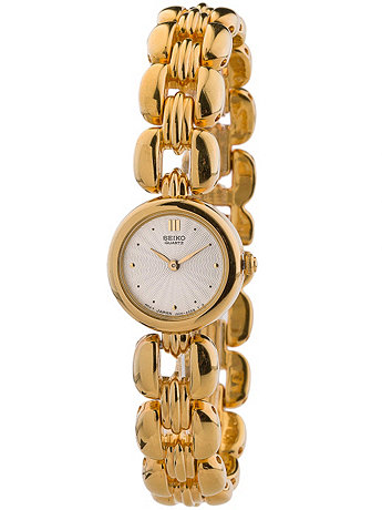Seiko Round Gold Ladies' Chain Link Watch