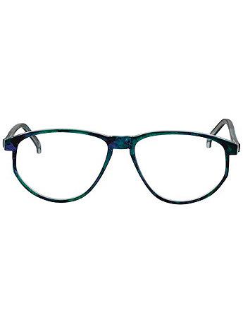 Vintage Burdett London Marbled Indigo/Teal Eyeglasses