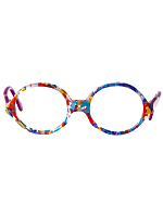 Vintage Kids' Le Club Optique Colorful Marbled Eyeglasses
