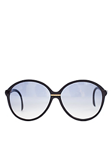 Vintage Jacques Fath Black/Gold Accent Sunglasses