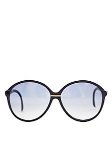 Vintage Jacques Fath Black/Gold Accent Sunglasses