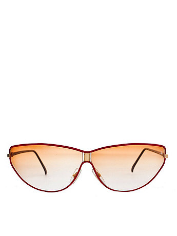 Vintage Jean Pierre Lamy Red Metal Frame Sunglasses