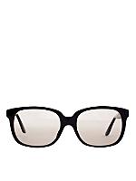 Vintage Emmanuelle Khanh Oversized Black Square Sunglasses