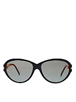 Vintage Nina Ricci Black/Gold Accent Sunglasses