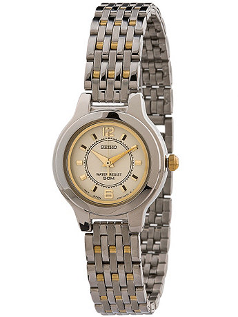 Seiko Crème/Gold/Silver Ladies' Metal Band Watch