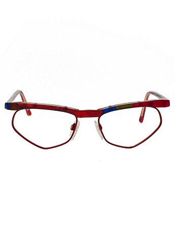 Vintage Tom Ferra Colorful Angular Eyeglasses