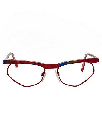 Vintage Tom Ferra Colorful Angular Eyeglasses