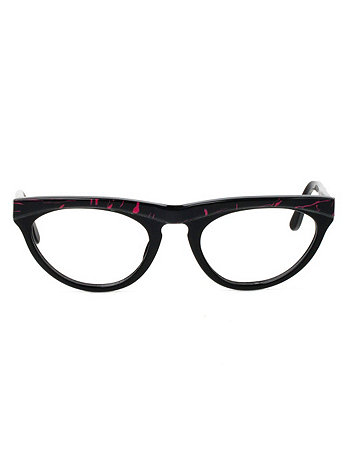 Vintage Le Club Optique Red/Black Cat Eye Eyeglasses
