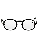 Vintage Le Club Optique Oval Matte Black Eyeglasses