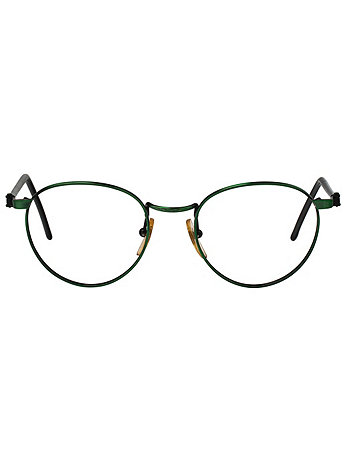 Vintage Le Club Optique Metallic Green Wire Eyeglasses