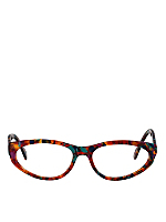 Vintage Le Club Optique Colorful Marbled Eyeglasses