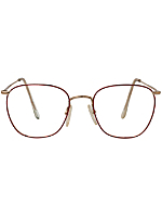 Vintage Pro Design Studio Red Wire Eyeglasses