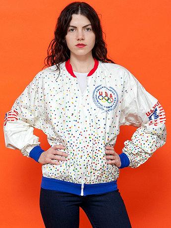 Vintage Seoul Olympics US Olympic Committee Tyvek Jacket