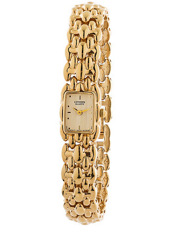 Citizen Tiny Rectangular Ladies' Metal Band Watch