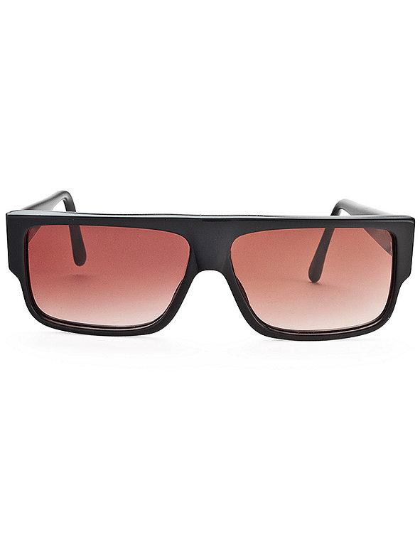 Vintage Emanuelle Khanh Rectangular Black Sunglasses