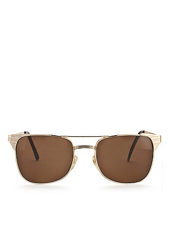 Vintage Square Aviator Wire Sunglasses