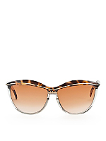 Vintage Leonard Tortoise Shell Cat Eye Sunglasses