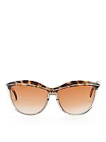 Vintage Leonard Tortoise Shell Cat Eye Sunglasses