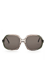 Vintage Playgirl Deep Green/Smoke Grey Sunglasses