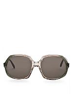 Vintage Playgirl Deep Green/Smoke Grey Sunglasses