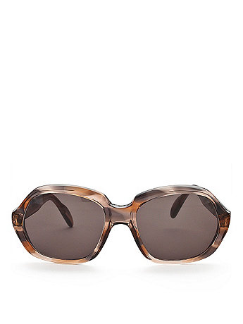 Vintage Marbled Brown/Grey/Translucent Sunglasses