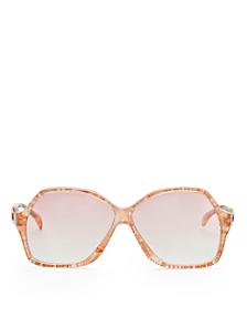 Vintage Jacques Esterel Marbled Melon Butterfly Sunglasses