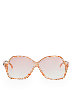 Vintage Jacques Esterel Marbled Melon Butterfly Sunglasses