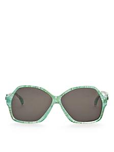 Vintage Jacques Esterel Marbled Lime Butterfly Sunglasses