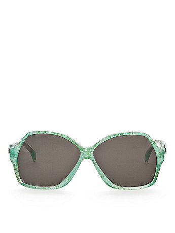 Vintage Jacques Esterel Marbled Lime Butterfly Sunglasses