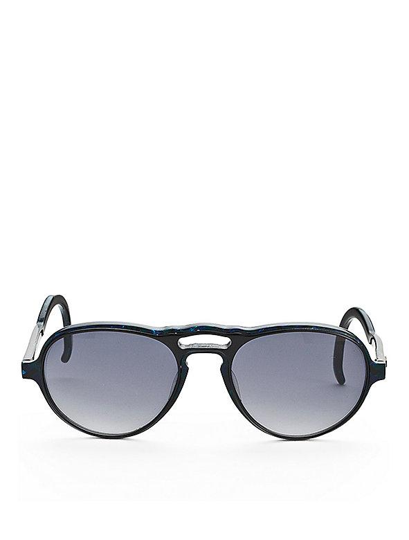 Vintage Kenzo Double Bar Black/Reflective Sunglasses