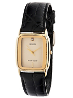 Citizen Rhinestone Ladies' Leather Band Watch