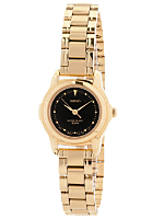 Seiko Black/Gold Ladies' Metal Band Watch