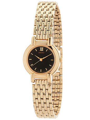 Seiko Graphite/Gold Ladies' Metal Band Watch