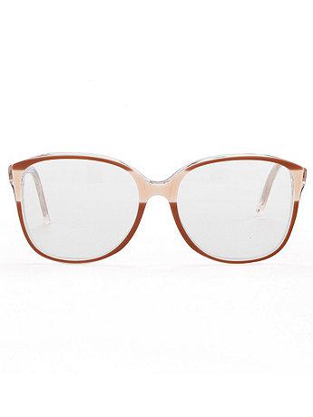 Vintage Crème/Taupe Square Plastic Eyeglasses