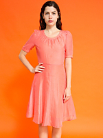 Vintage Handmade Sheer Coral Dress