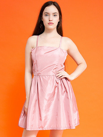 Vintage Handmade Satin Spaghetti Strap Dress