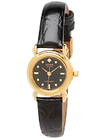 Citizen Black/Gold Shapes Ladies' Leather Band Watch